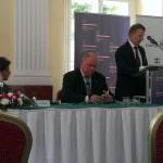 Adam Purwin, CEO PKP Cargo,  Petr Pospíchal, předseda ČPF, Zbigniew Klepacki, CEO AWT